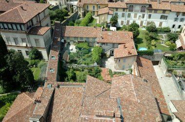 Vista dalla Torre Civica Campanone Bergamo Alta