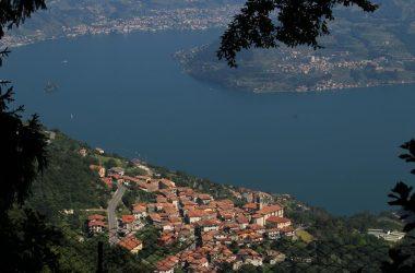 Vista panoramica dal Creò su Parzanica