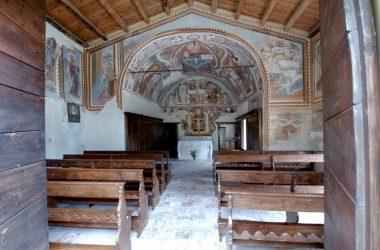 chiesa affrescata di San Ludovico di Tolosa (Bretto, Camerata Cornello)