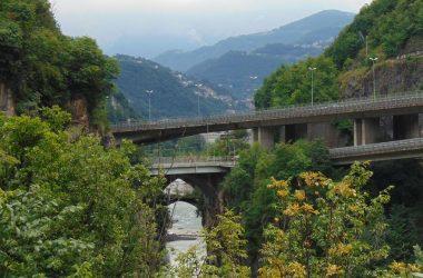 i ponti di Sedrina - Bergamo -sul fiume Brembo
