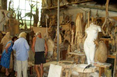 laboratorio dello scultore Alberto Meli a Luzzana