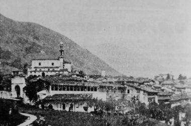 panorama di Vertova nei primi del '900, visto da Semonte
