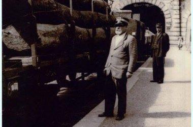 treno della ferrovia Valle brembana - Brembilla Grotte- ponti di Sedrina 1939